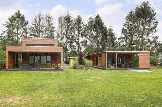 Villapparte-Boek uw buitenhuis-Woody Lodge Valerie-luxe vakantiehuis voor 4 personen-Twente-op vakantiepark