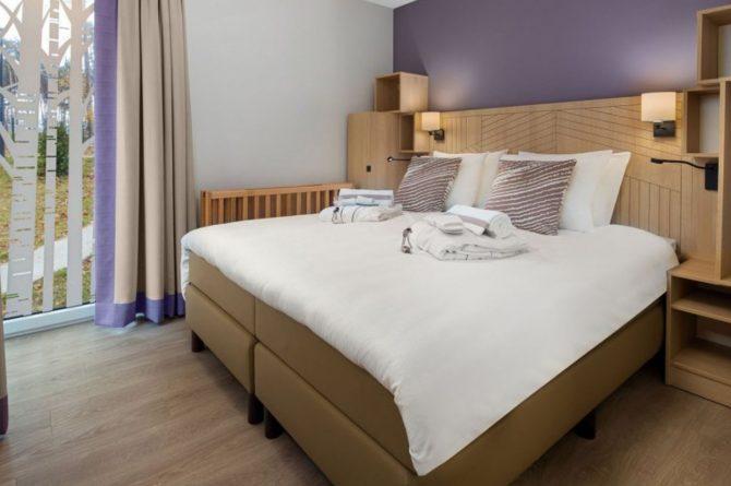 Villapparte-Center Parcs-Terhills Resort-Exclusive Lakeside Cottage-Luxe vakantievilla voor 6 personen-België-luxe slaapkamer