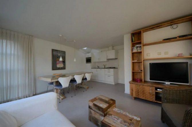 Villapparte-Roompot-Buitenhuis 4-Knus vakantiehuis voor 4 personen-Park Scorleduyn-Schoorl-Noord-Holland-gezellige woonkamer