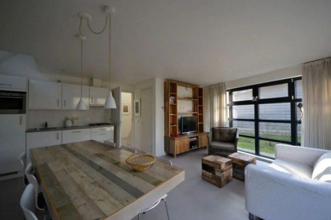 Villapparte-Roompot-Buitenhuis 4-Knus vakantiehuis voor 4 personen-Park Scorleduyn-Schoorl-Noord-Holland-gezellige zithoek
