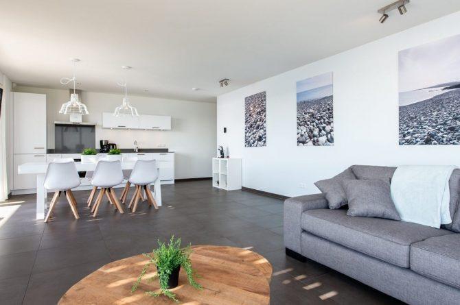 Villapparte-Ruiterplaat-Appartement 4 Schotsman Watersport-luxe appartement aan het water-voor 6 personen-Kamperland-Zeeland-knusse zithoek