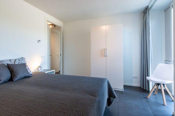 Villapparte-Ruiterplaat-Appartement 4 Schotsman Watersport-luxe appartement aan het water-voor 6 personen-Kamperland-Zeeland-romantische slaapkamer