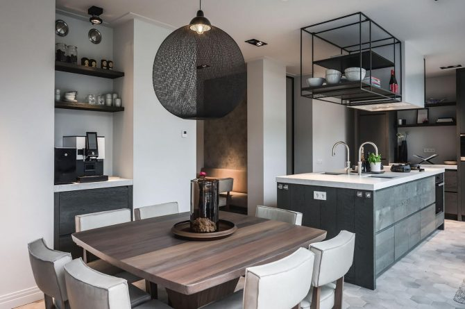 Villapparte-Villa for you-Villa Kranenbergh- luxe vakantievilla voor 16 personen-bergen-Noord-Holland-keuken en eethoek