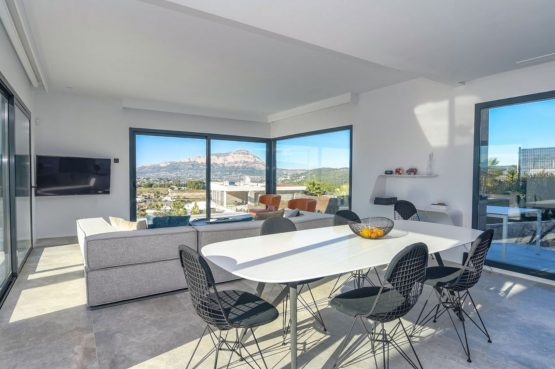 Villapparte-Belvilla-Villa Casa Leda in Jávea-moderne vakantievilla voor 6 personen met zwembad-Spanje-eethoek