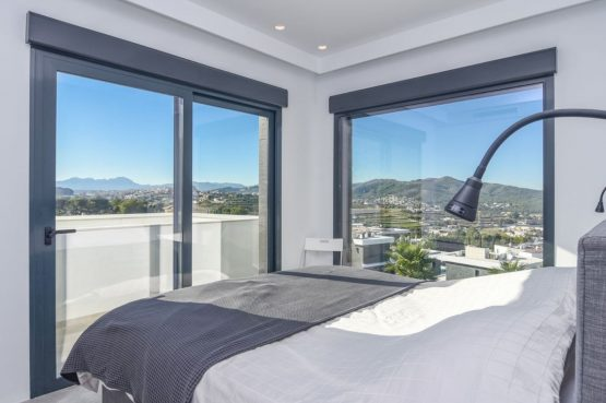 Villapparte-Belvilla-Villa Casa Leda in Jávea-moderne vakantievilla voor 6 personen met zwembad-Spanje-romantische slaapkamer