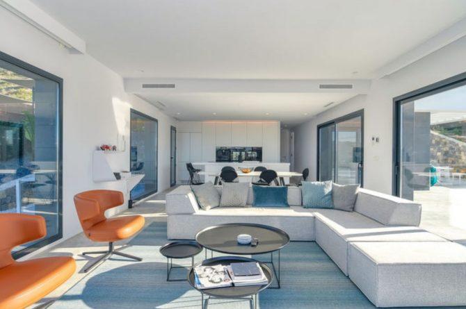 Villapparte-Belvilla-Villa Casa Leda in Jávea-moderne vakantievilla voor 6 personen met zwembad-Spanje-stijlvolle woonkamer