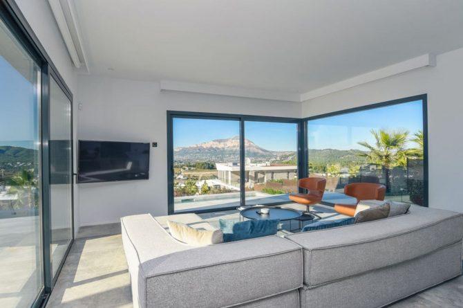 Villapparte-Belvilla-Villa Casa Leda in Jávea-moderne vakantievilla voor 6 personen met zwembad-Spanje-zithoek met uitzicht