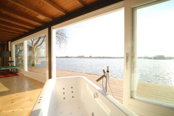 Villapparte-Natuurhuisje-Wellness Vakantiehuis Lekkerkerk-luxe vakantiehuis voor 2 personen-met sauna en bubbelbad-Lekkerkerk-prachtig uitzicht