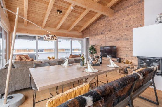 Villapparte-Villa for You - Penthouse Kreischberg - luxe penthouse voor 8 personen-met Sauna-St. Lorenzen ob Mureau-Oostenrijk-knusse eethoek