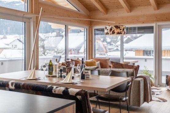Villapparte-Villa for You - Penthouse Kreischberg - luxe penthouse voor 8 personen-met Sauna-St. Lorenzen ob Mureau-Oostenrijk-lichte woonkamer