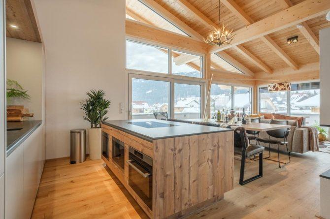 Villapparte-Villa for You - Penthouse Kreischberg - luxe penthouse voor 8 personen-met Sauna-St. Lorenzen ob Mureau-Oostenrijk-luxe keuken