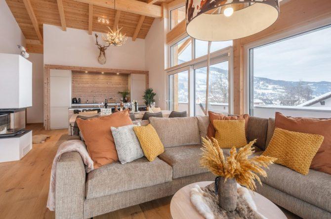 Villapparte-Villa for You - Penthouse Kreischberg - luxe penthouse voor 8 personen-met Sauna-St. Lorenzen ob Mureau-Oostenrijk-ruime leefruimte