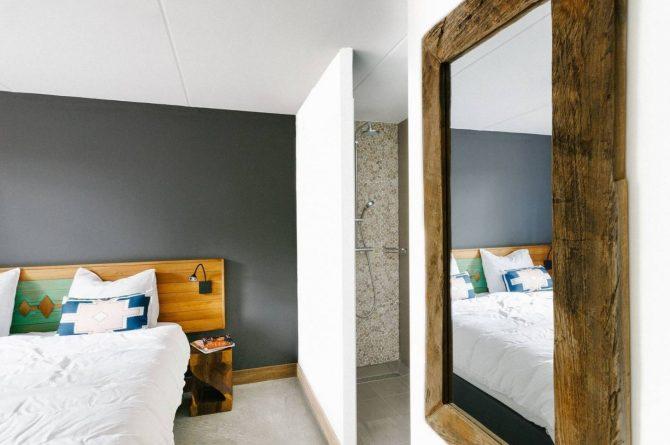 Villapparte-Beekse Bergen-Safariresort-Kidslodge Beekse Bergen-Unieke lodge voor 6 personen-Hilvarenbeek-slaapkamer met douche