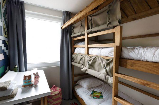 Villapparte-Beekse Bergen-Safariresort-Kidslodge Beekse Bergen-Unieke lodge voor 6 personen-Hilvarenbeek-stapelbed