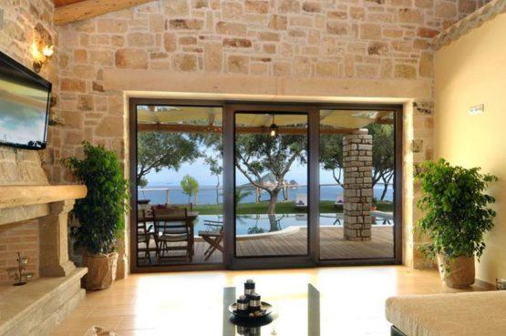 Villapparte-Eliza was here-Kymaros Villas-luxe villa's voor 2-8 personen-Zakynthos-Griekenland-geweldig uitzicht uit woonkamer