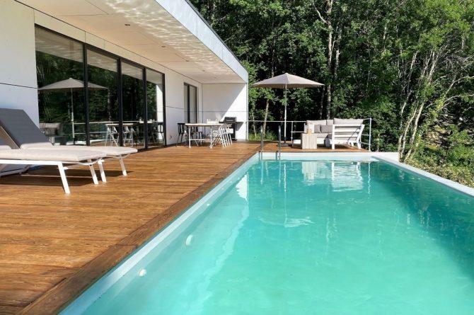 Villapparte-FranceVilla-Villa Marilove-Luxe vakantiehuis voor 6 personen-met zwembad en jacuzzi-Souillac-Dordogne-Frankrijk-verwarmd zwembad