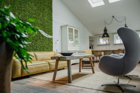 Villapparte-De Dorpswoning-De Volbloed-luxe vakantiehuis voor 12 personen-Leenderstrijp-Noord-Brabant-gezellige woonkamer