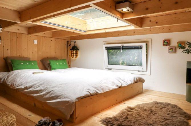 Villapparte-Droomparken-Tiny House Hooge Veluwe-Knus vakantiehuis voor 2 personen-Gelderland-slaapvide
