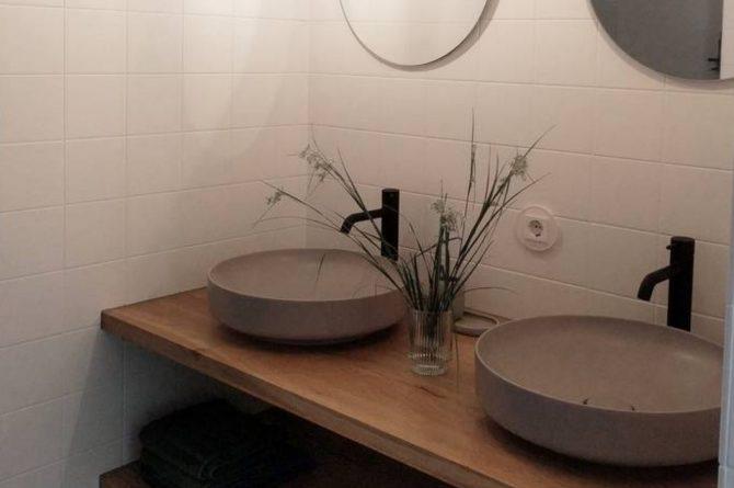 Villapparte-Natuurhuisje-Natuurhuisje Appelscha-luxe vakantiehuis voor 8 personen-Nationaal park Drents-Friese Wold-Friesland-moderne badkamer