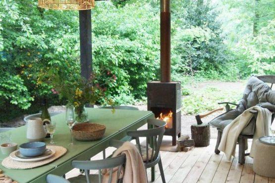 Villapparte-Natuurhuisje-Natuurhuisje Appelscha-luxe vakantiehuis voor 8 personen-Nationaal park Drents-Friese Wold-Friesland-overdekt terras