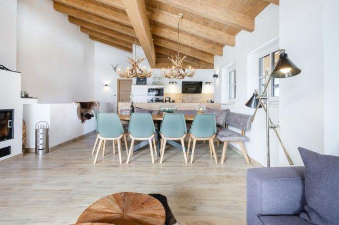 Villapparte-Villa for you-Chalet Tauernlodge Berglust-luxe vakantiehuis voor 10 personen-Salzburgerland-Bramberg am Wildkogel-Oostenrijk-gezellige eethoek