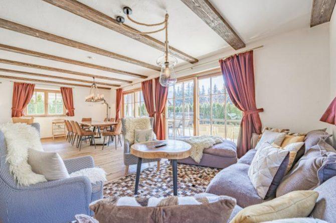 Villapparte-Villa for you-Chalet Wilder Kaiser-Luxe vakantiehuis voor 10 personen-Itter-Tirol-Oostenrijk-grote woonkamer