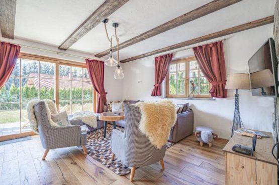 Villapparte-Villa for you-Chalet Wilder Kaiser-Luxe vakantiehuis voor 10 personen-Itter-Tirol-Oostenrijk-knusse zithoek
