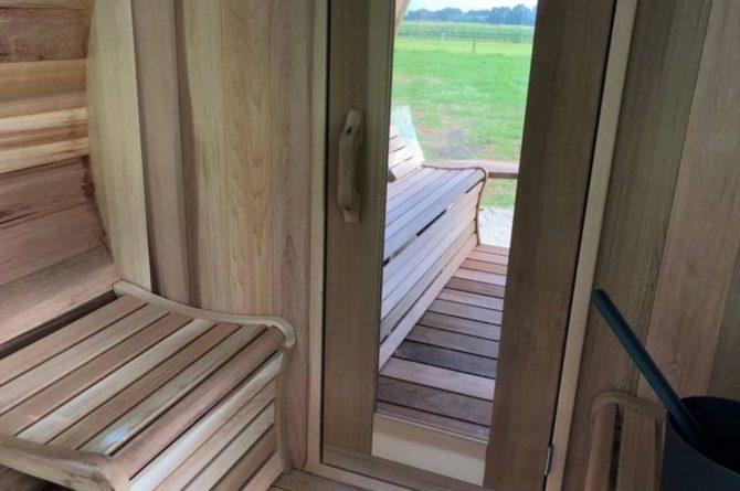 Villapparte-Natuurhuisje Drents Keienhuis-luxe vakantiehuis voor 2 personen-met sauna en hottub-Drenthe-sauna
